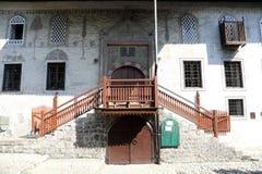 到麦加朝圣过的伊斯兰教徒Alibeg清真寺在特拉夫尼克,波黑 图库摄影