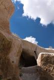 到穴居人的本质巨大奇迹旅行蓝天的, cappadocia,火鸡 库存照片