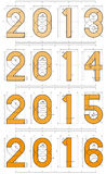 2013年到2016年技术项目设计 图库摄影