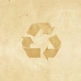 制作纸张被回收的标签 图库摄影