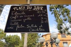 制地图du Jour 免版税库存图片