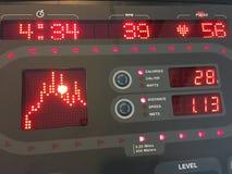 制定出健身房设备控制台 库存照片