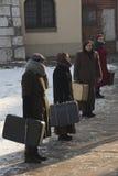 制定扣留犹太波兰关于 免版税图库摄影