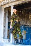 制服的女孩 免版税库存照片