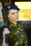 制服的女孩 库存图片