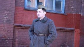 制服的战士在战争期间 影视素材