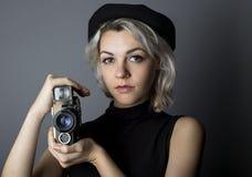 制片商或电影摄影师 免版税库存照片