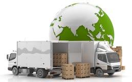 制造业在亚洲 从亚洲的运输 免版税库存照片