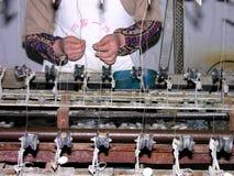 制造丝绸 库存图片