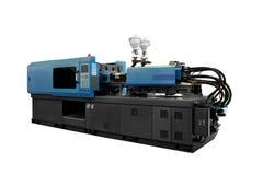 制造产品的生产机器从pvc塑料挤压技术 库存照片