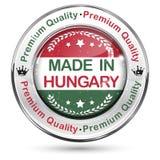 制造在匈牙利,优质质量-标签/象/徽章 免版税库存照片