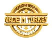 制造在土耳其,3d例证 库存照片