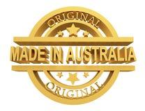 制造在澳大利亚,3d例证 库存例证