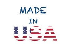 制造在美国,超级质量抽象企业海报 向量例证