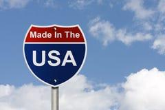 制造在美国 免版税库存图片