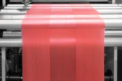 制造在flexo打印机的标签 库存照片