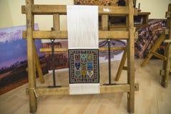 制造地毯 免版税库存照片