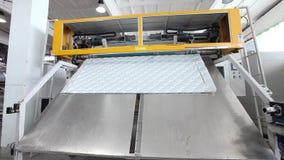 制造床垫,工厂,床垫厂,现代工厂,户内 股票视频