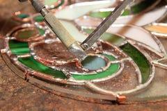 焊接彩色玻璃 免版税库存照片