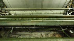 制造的机器特写镜头有织品的 织品工厂和事务 股票录像