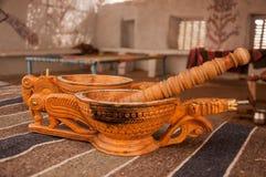 制造的鸦片龙型碗在Bishnoi 免版税图库摄影