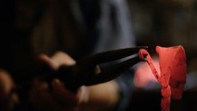制造过程从高热金属的文章 影视素材