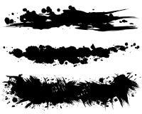 刷子冲程例证 手拉的形状 免版税库存照片
