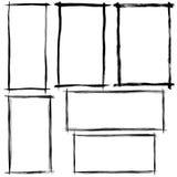 刷子冲程框架 免版税库存照片