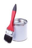 刷子和油漆 免版税库存照片