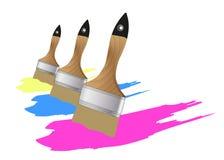 刷子油漆 免版税图库摄影