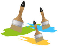 刷子油漆 免版税库存照片