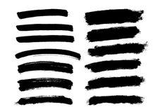 刷子线集合 也corel凹道例证向量 免版税库存照片