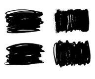 刷子线集合 也corel凹道例证向量 免版税库存图片