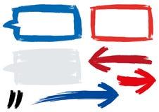刷子被绘的传染媒介段 免版税库存图片