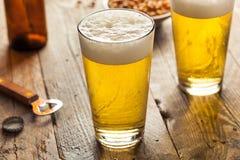 刷新的夏天品脱啤酒 库存图片