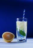 刷新的柠檬新鲜薄荷 免版税图库摄影