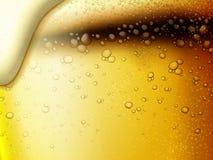 刷新的泡沫腾涌的啤酒背景 库存例证