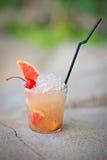 刷新的酒精热带鸡尾酒Absolut光束 库存图片