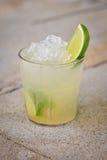 刷新的酒精热带鸡尾酒Caipirinha 库存照片