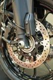 刹车的摩托车系统 图库摄影