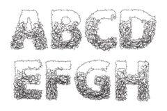 刺字母表 免版税图库摄影
