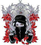 刺客的女王/王后 库存图片