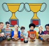 刺激战利品成功赢取的奖励奖概念 库存图片