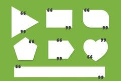 刺激行情箱子模板 行情泡影 空的模板 纸板料,信息,文本 印刷品设计 行情形式 免版税库存图片