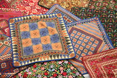刺绣丝绸使用 库存照片