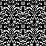 刺绣五颜六色的花卉无缝的样式 挂毯传染媒介bac 免版税库存照片