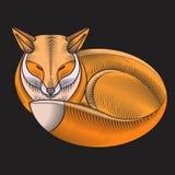 刺绣狐狸设计 免版税库存图片