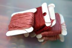 刺绣线程数 库存图片