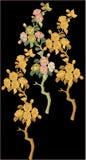 刺绣Motitf纺织品莫卧儿艺术的印刷品设计 Illustrat,例证 皇族释放例证