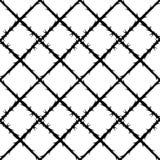 刺铁丝网样式,禁止的区域 库存图片